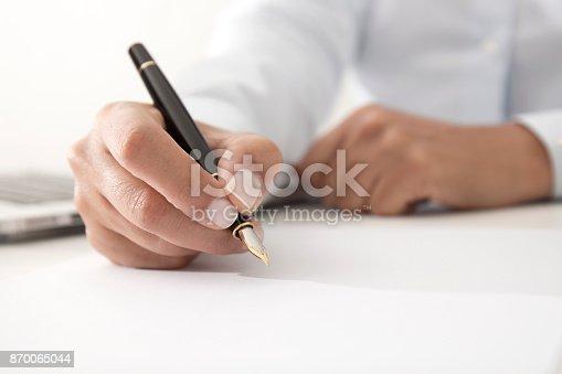 istock Signing Document 870065044