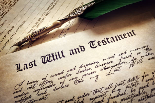 signing last will and testament - will stock photos and pictures