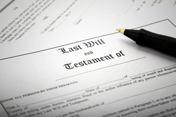signing last will & testament - will stock photos and pictures