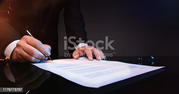 istock Signing Official Document 1179773757