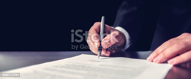 istock Signing Official Document 636210284