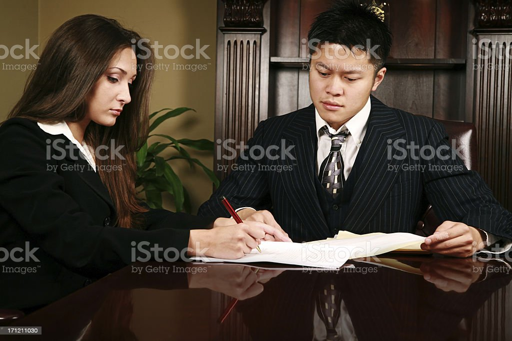 Signing Papers II royalty-free stock photo