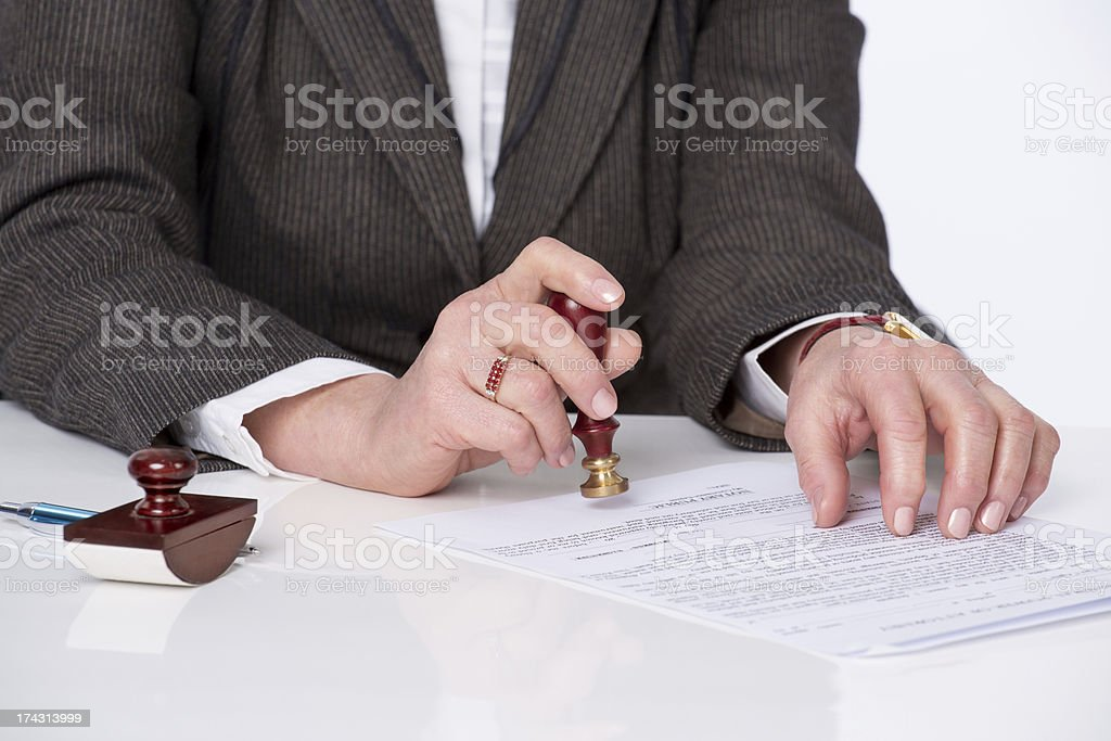 Signing testament stock photo