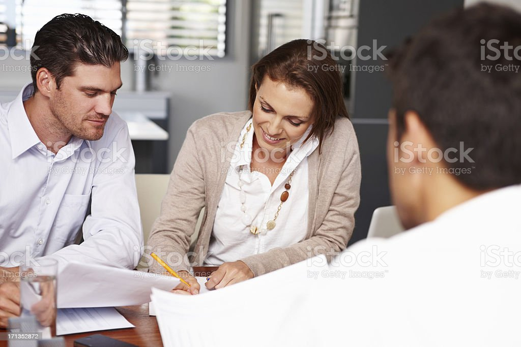 Signing that lease agreement stock photo