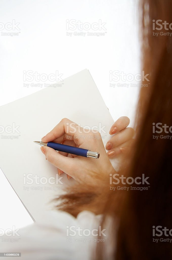 Signing the document royalty-free stock photo