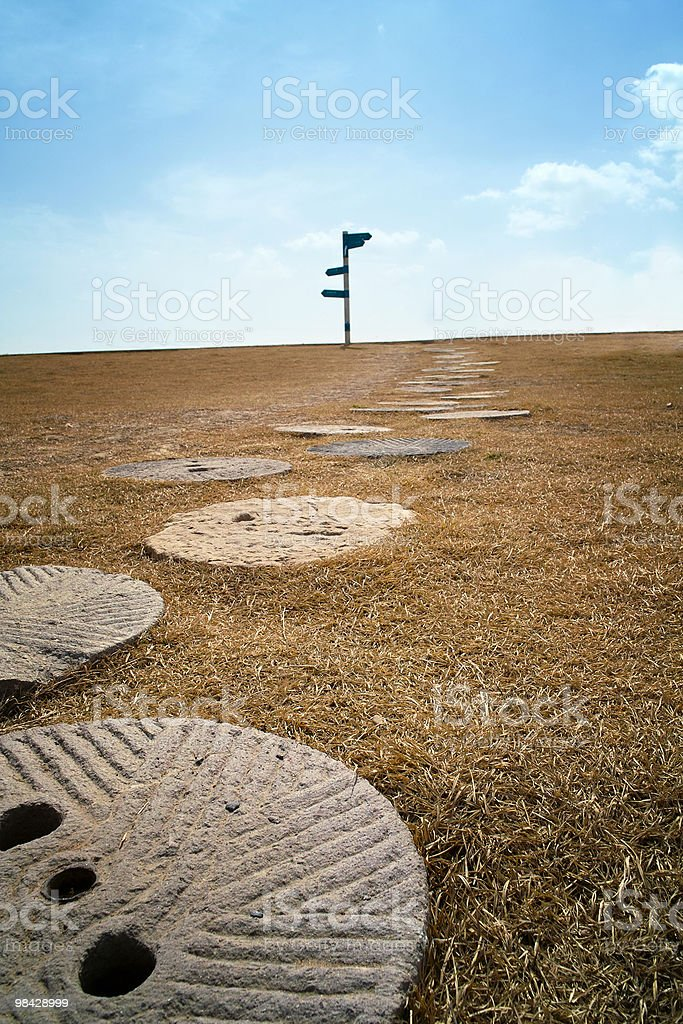 Signpost at the end of road royalty-free stock photo