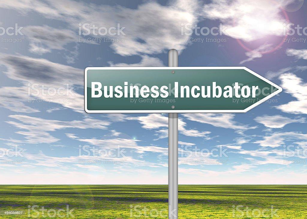 Signpost Business Incubator stock photo