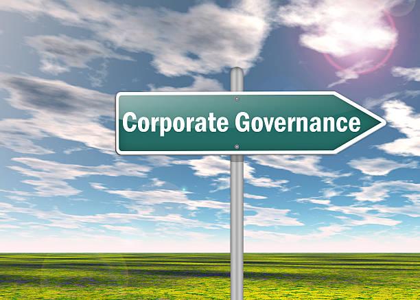 signpost corporate governance - styrelse bildbanksfoton och bilder