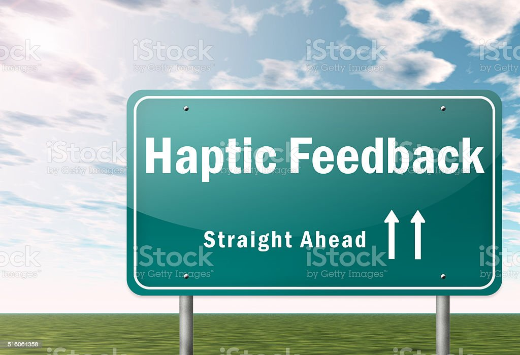 Signpost Haptic Feedback stock photo