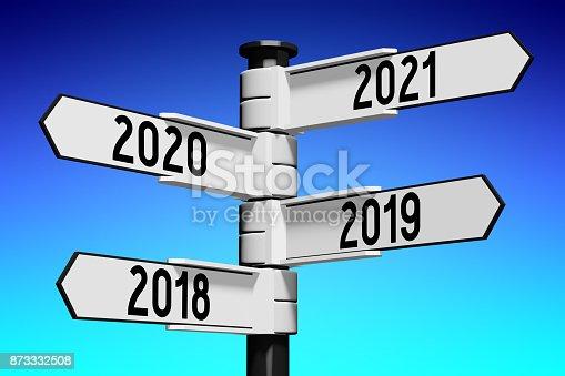 873333520 istock photo 2018/ 2019/ 2020/ 2021 - signpost/ roadsign 873332508