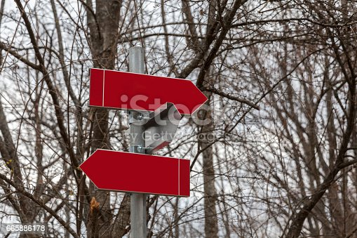 185884645 istock photo Signposts in the woods 665886178
