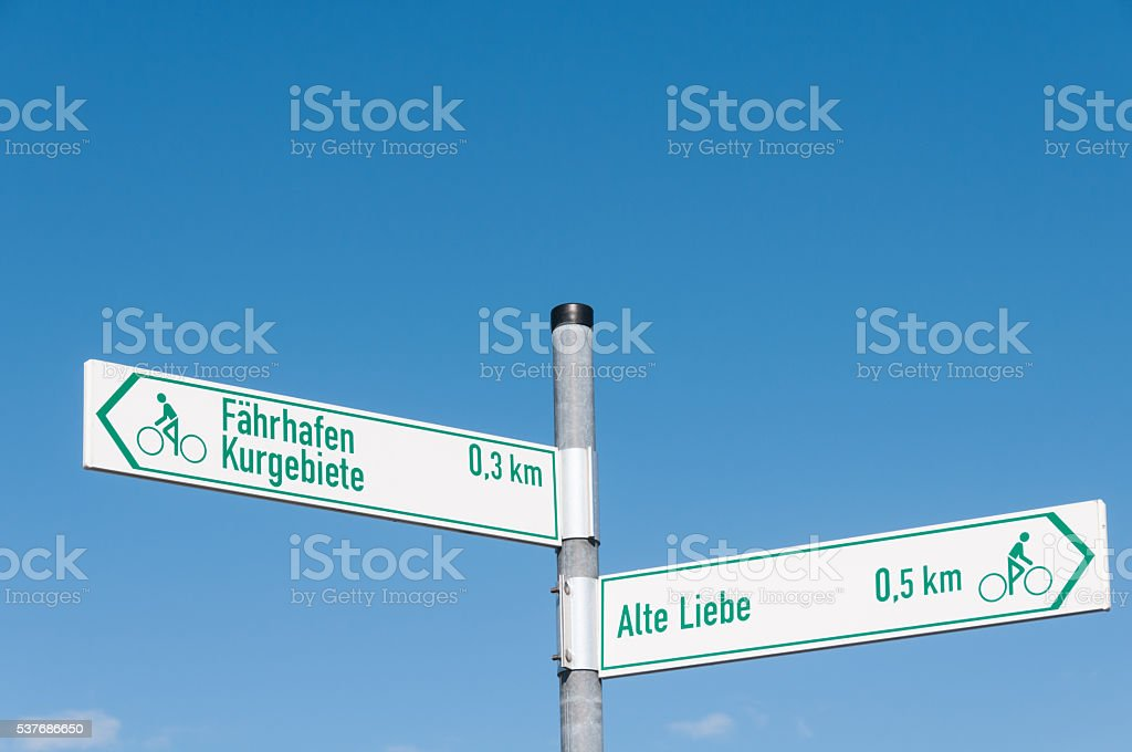 Signs Alte Liebe Faehrhafen stock photo