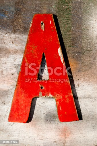 184953872istockphoto Signs: Capital letter 'A' on wooden, grunge plank. 463402569