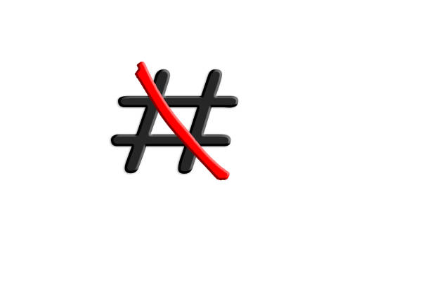 signs hashtag # red crossed out. - snake strike stock photos and pictures