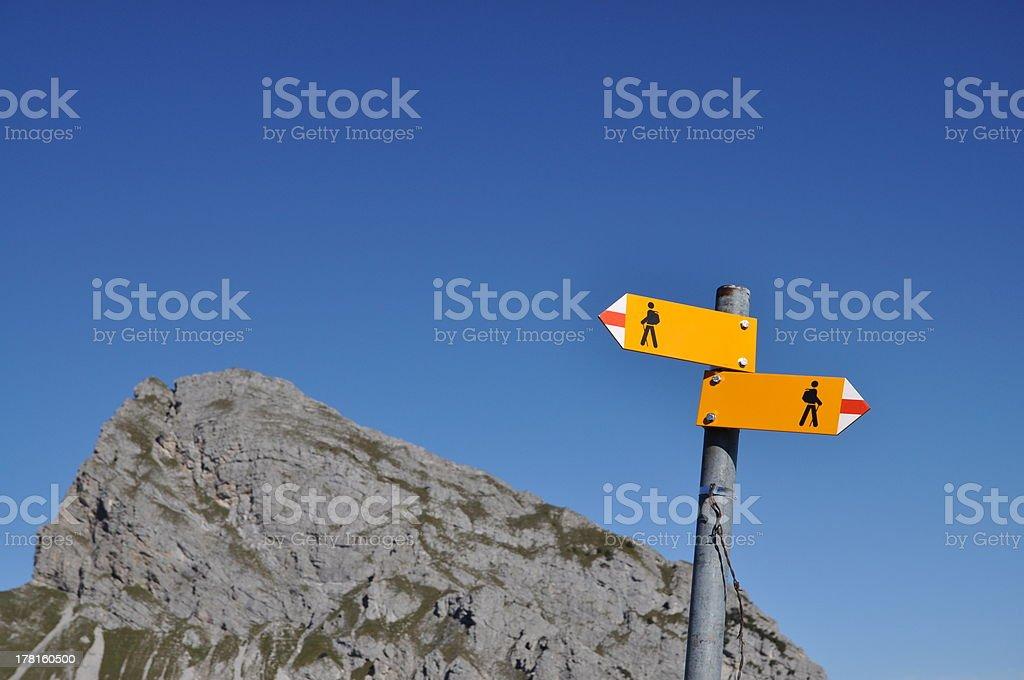 Signs in Switzerland stock photo