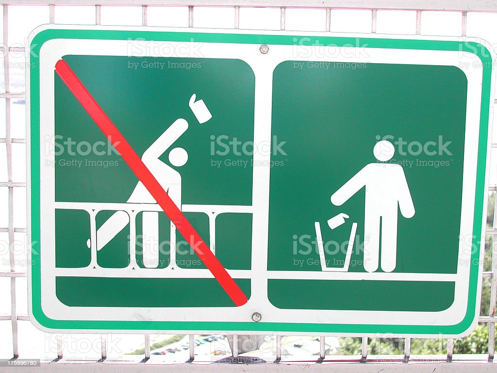 Signs - No Throwing Cans royalty-free stock photo