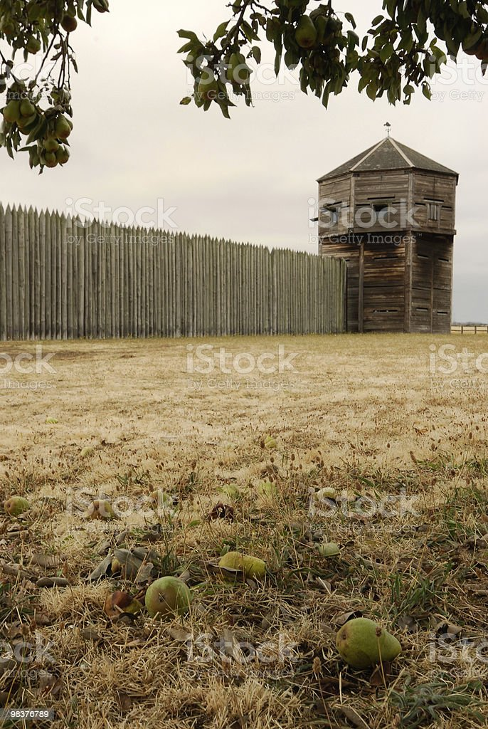 Signs of Autumn at Ft Vancouver Washington royalty-free stock photo
