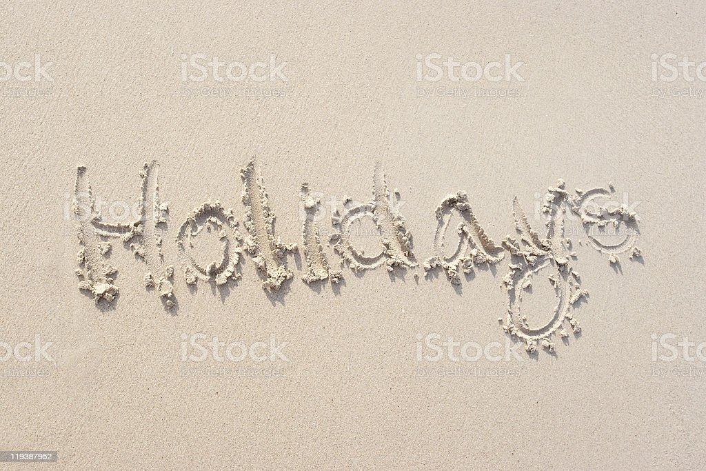 Signs on the sand royalty-free stock photo