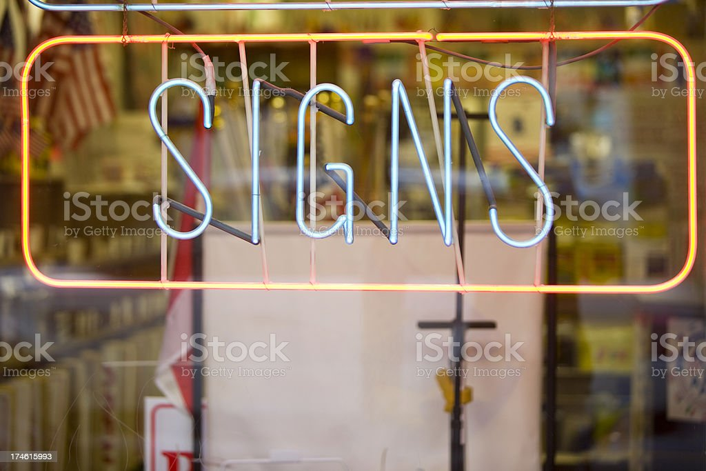Signs royalty-free stock photo