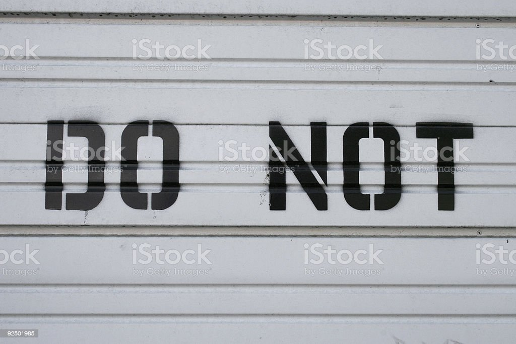 Signs, Signs, Everywhere Signs royalty-free stock photo