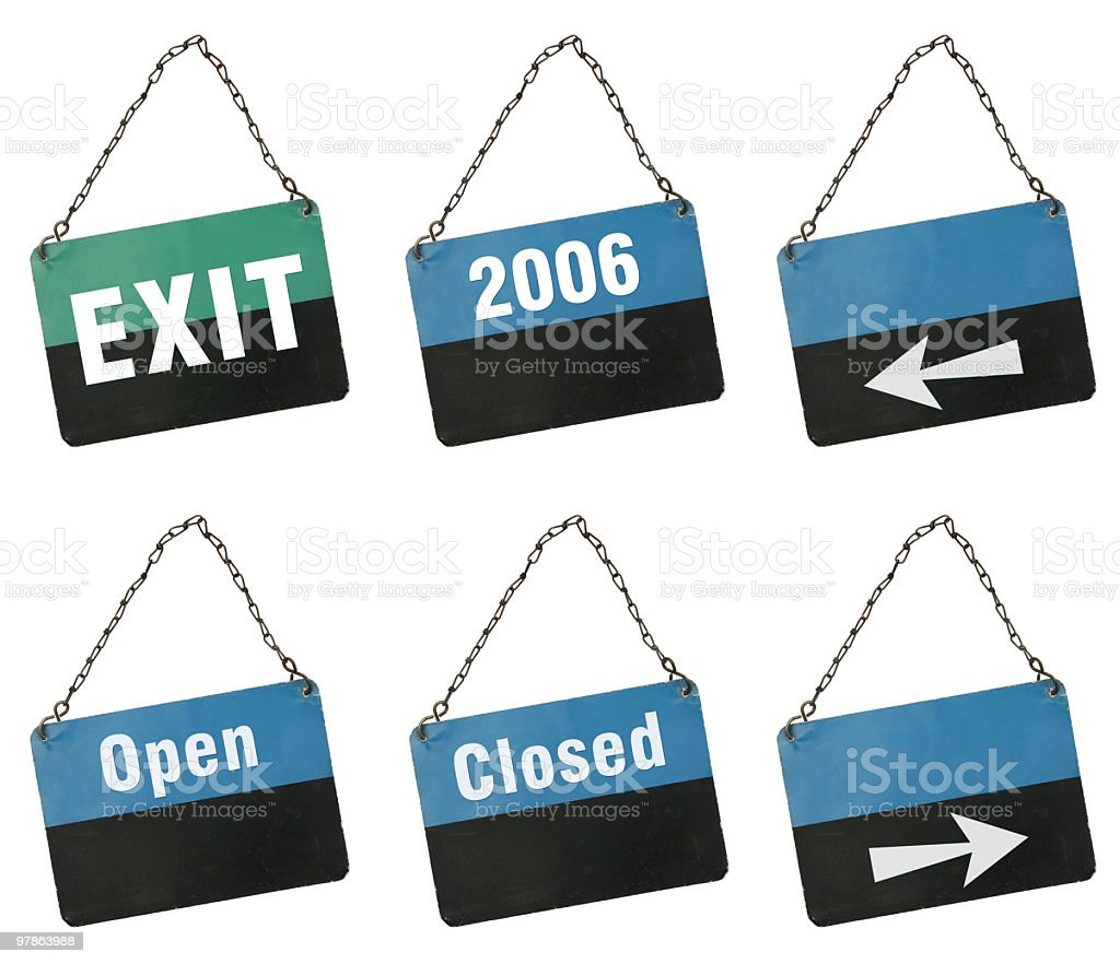 Signs to complete yourself royalty-free stock photo