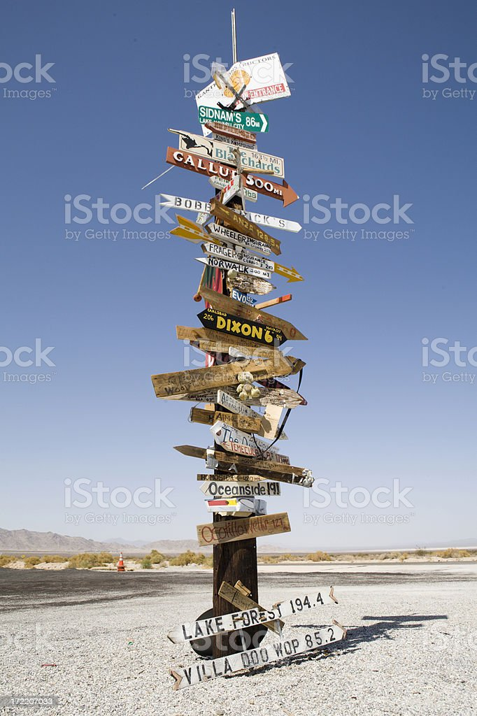 Signs to Everywhere royalty-free stock photo