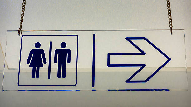 Signs toilet stock photo