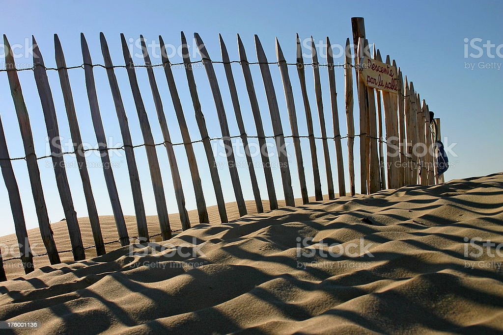 Signtpost at dune royalty-free stock photo