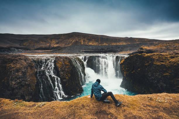 sigoldufoss in iceland - islandia zdjęcia i obrazy z banku zdjęć