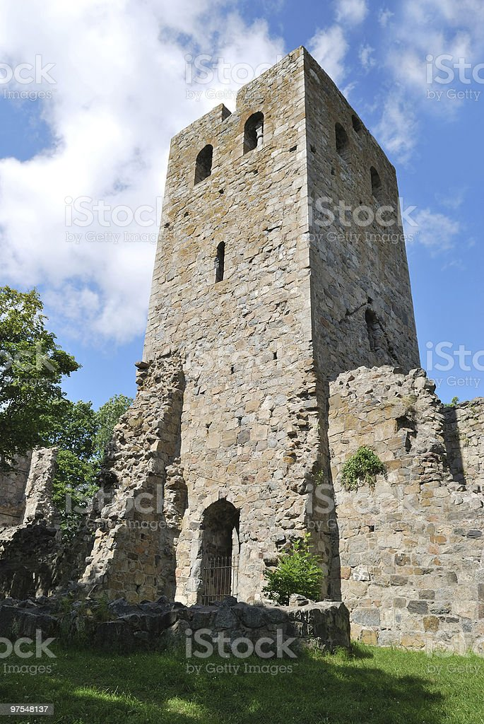 Sigtuna, church St.Per, 13 c. royalty-free stock photo