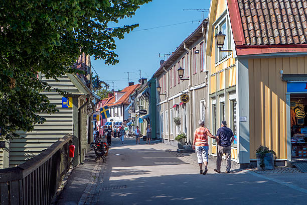 Sigtuna - the oldest town in Sweden stock photo