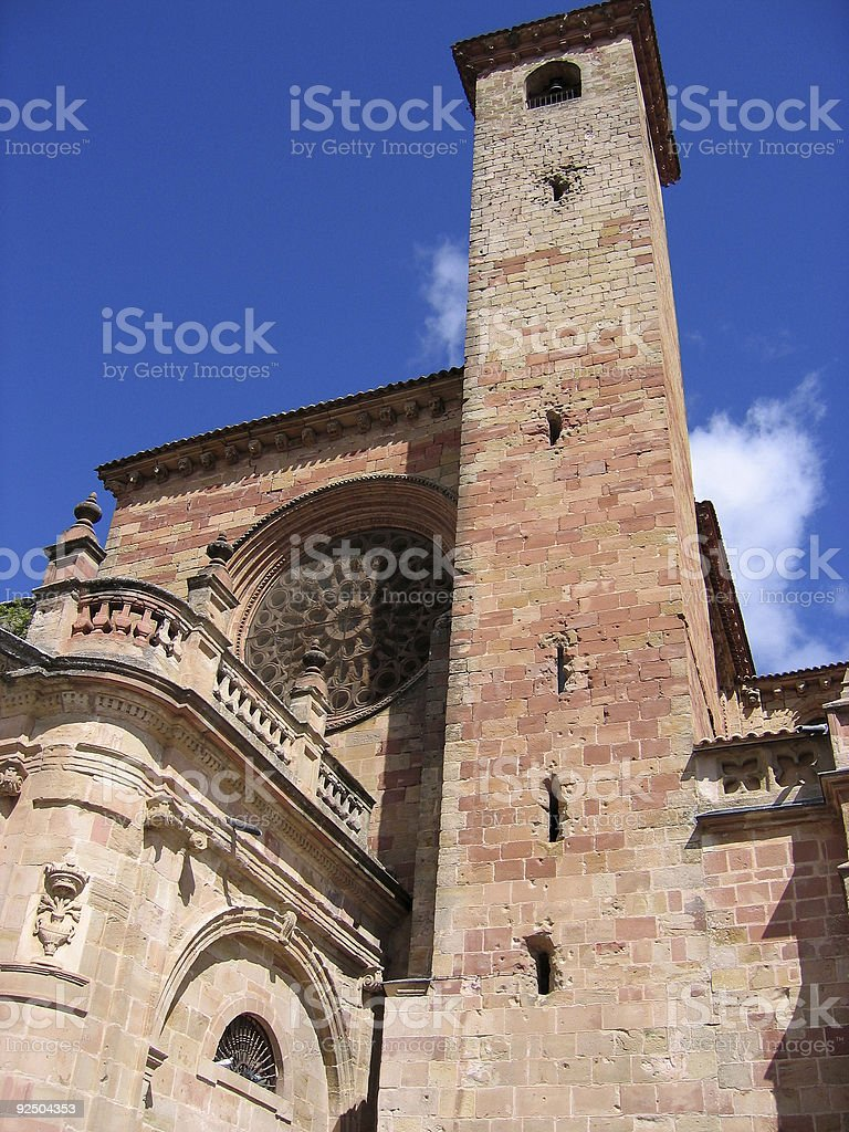 Siguenza historical cathedral tower Spain royalty-free stock photo