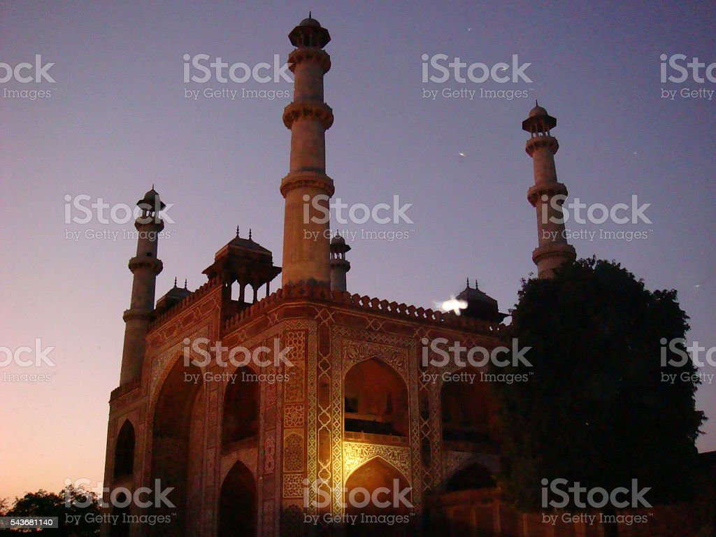 Sikandra Agra, in the evening stock photo