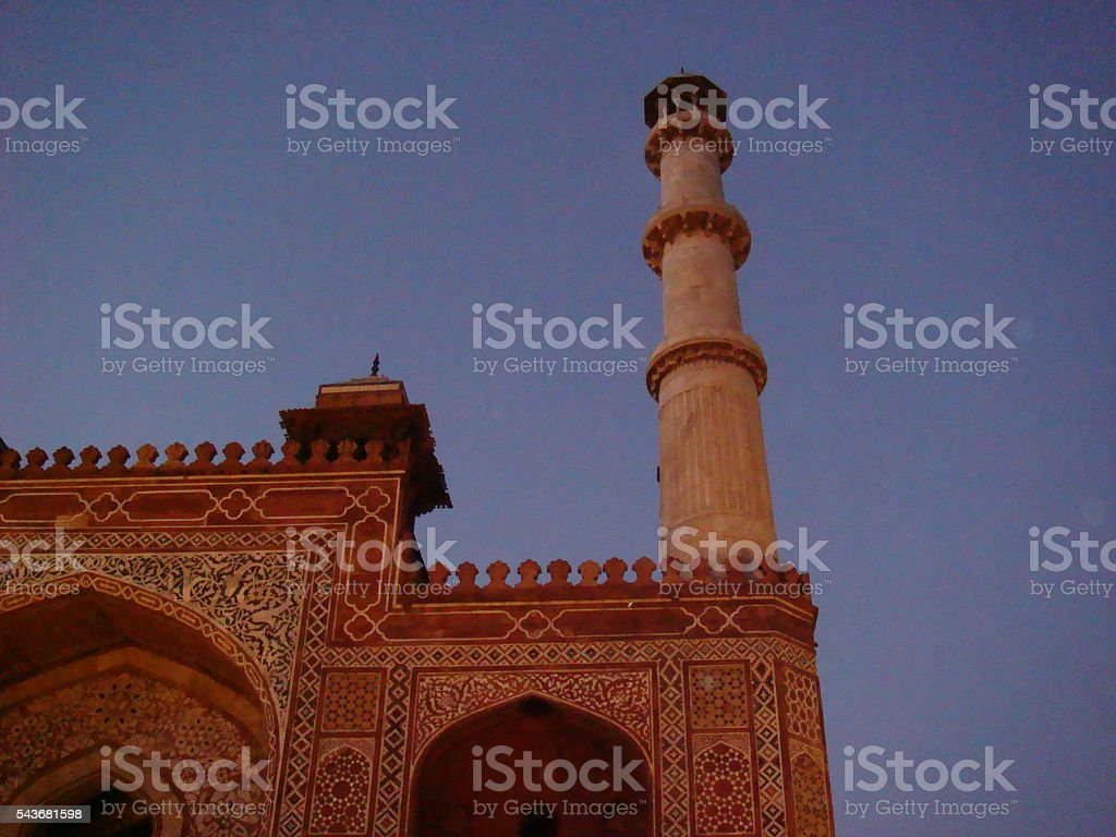 Sikandra Agra, Pillar View stock photo