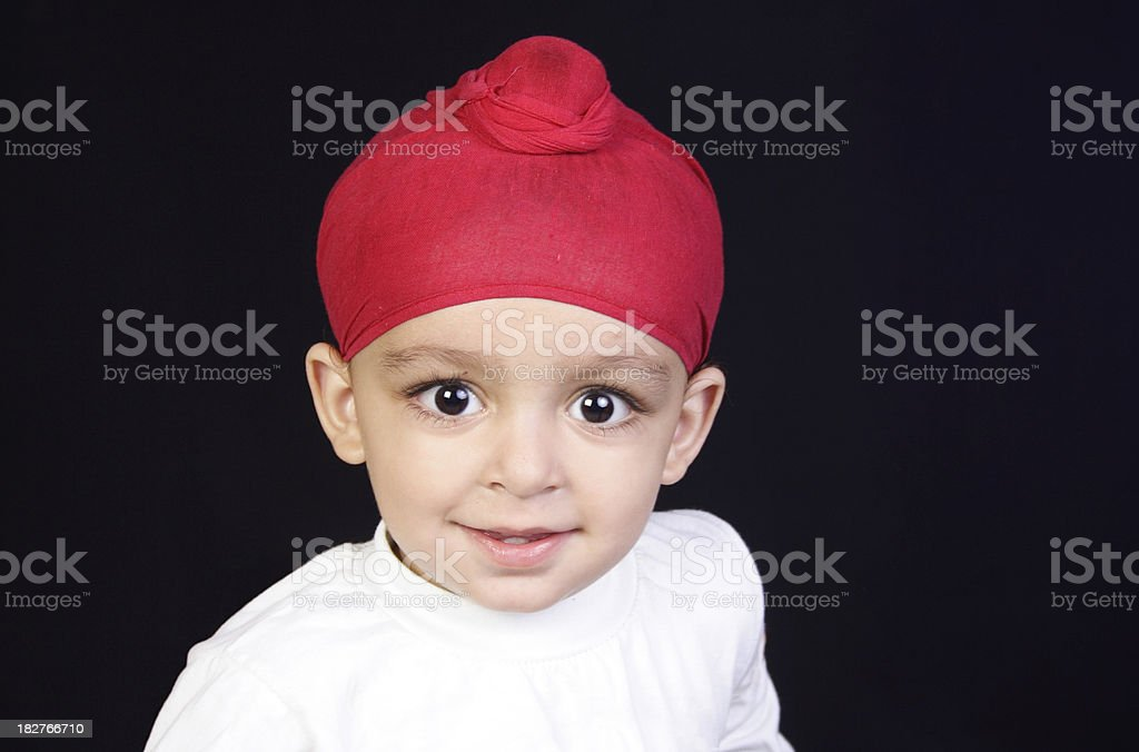 Sikh child stock photo