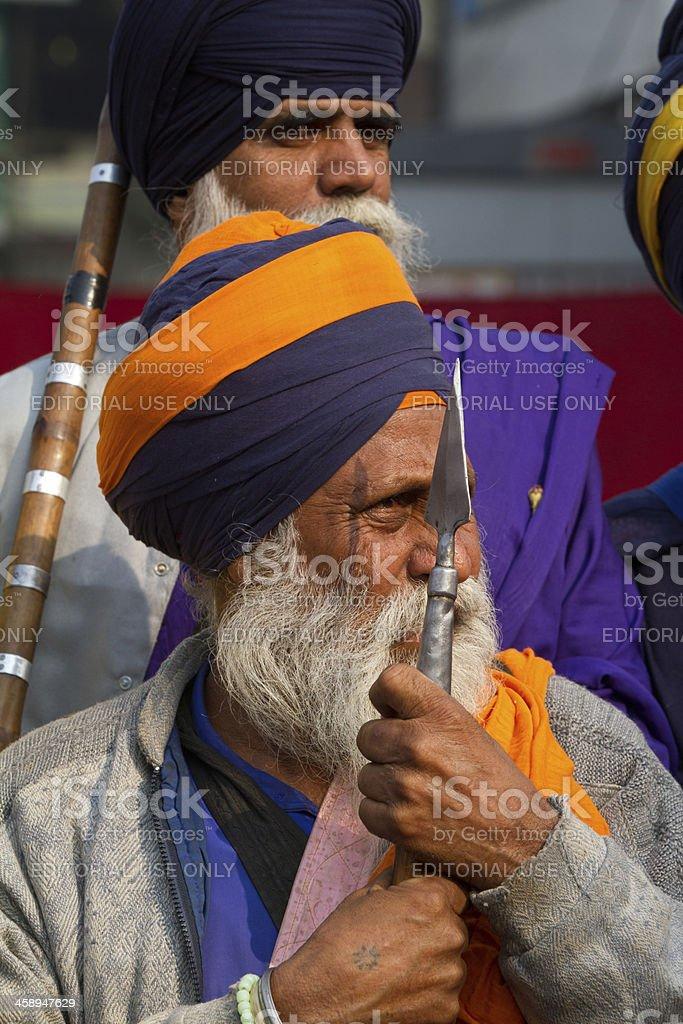 Sikh festival in New Delhi, India royalty-free stock photo