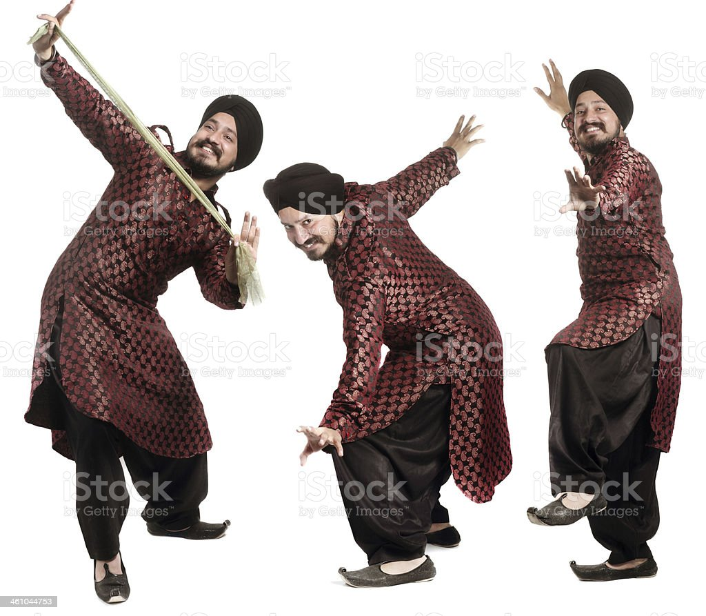 Sikh man dancing stock photo