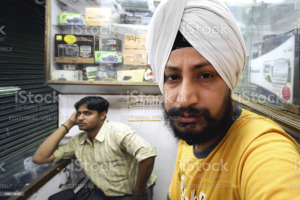 Sikh man stock photo