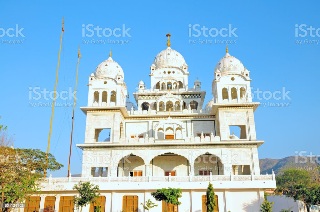 Sikh Temple - Gurudwara Singh Sabha, Pushkar, Rajasthan, India royalty-free stock photo