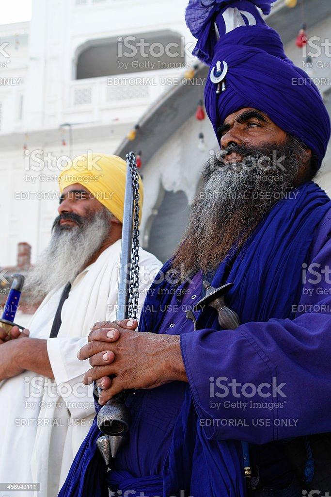 Sikhs Gläubige in Amritsar Lizenzfreies stock-foto