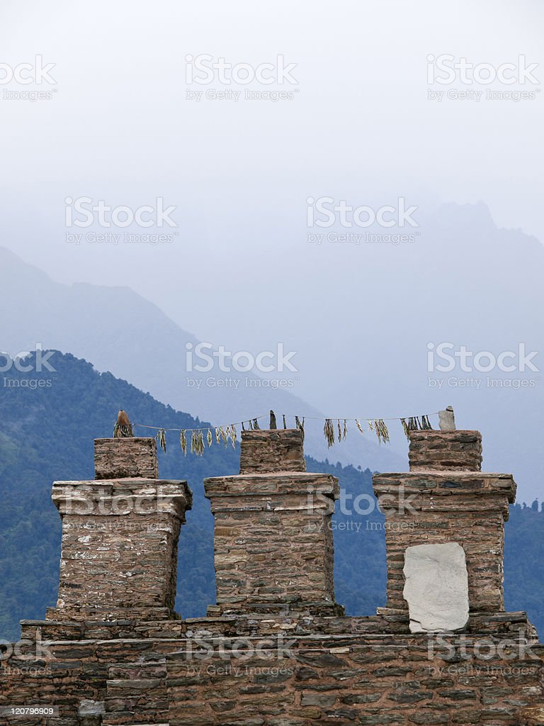Sikkims ancient capitol Rabdentse royalty-free stock photo