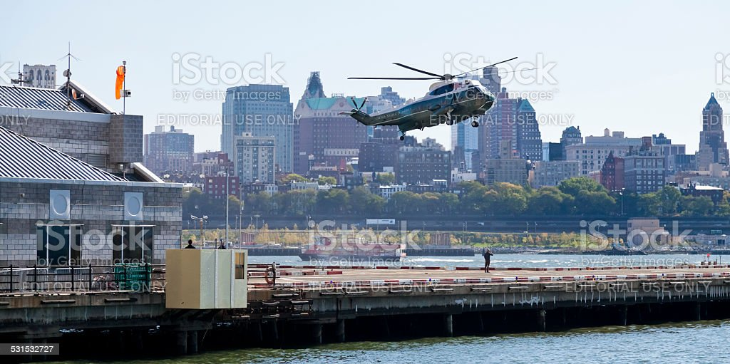 NEW YORK CITY, USA, Sikorsky VH-3D stock photo