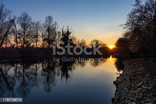 Sile river at sunset