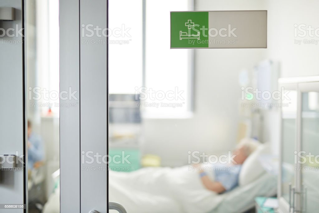 Silence in Hospital stock photo