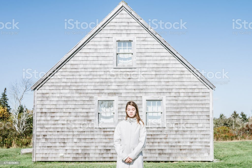 Silence, Nova Scotia Girl Portrait royalty-free stock photo