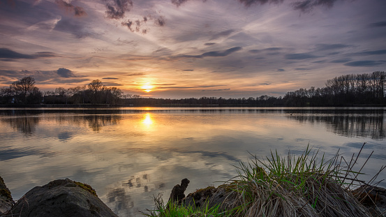 Silence On The Lake At Sunset