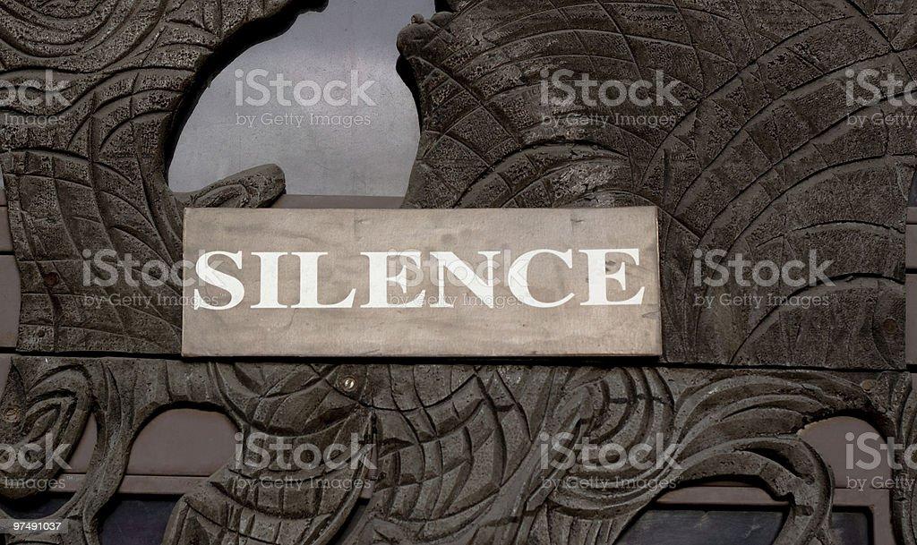 silence royalty-free stock photo