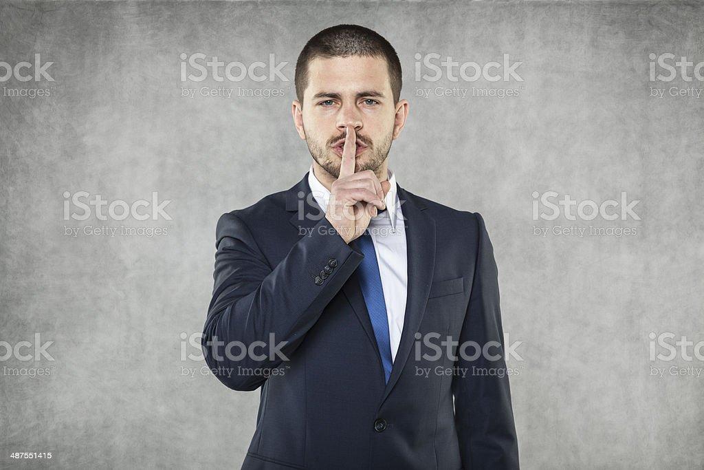 silence please stock photo