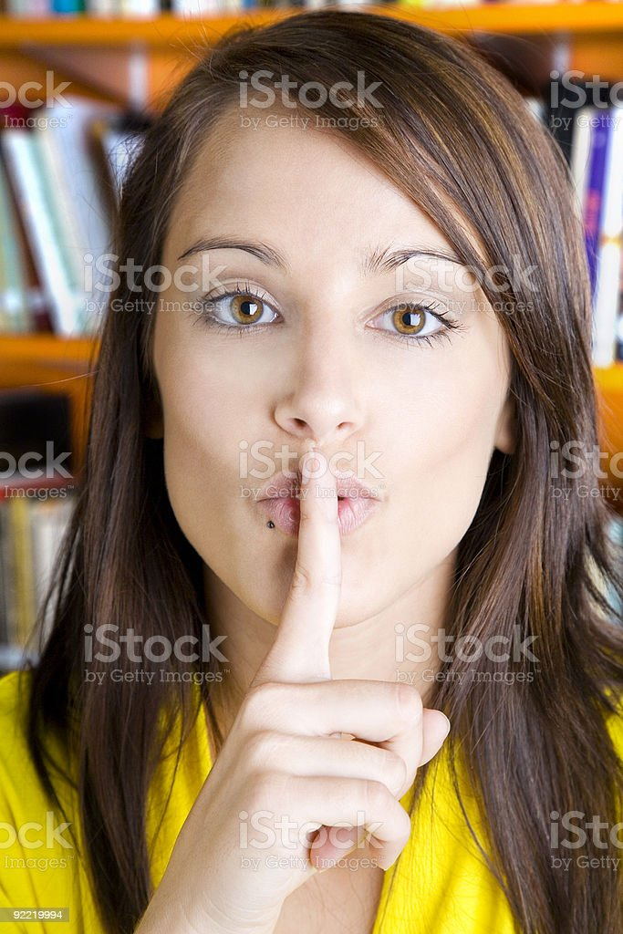 Silence please royalty-free stock photo