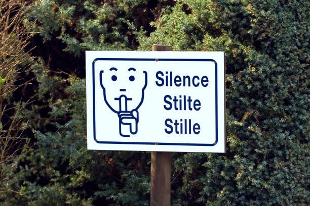 Silence sign stock photo